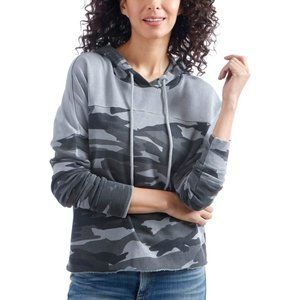 Lucky Brand Hoodie Camouflage Colorblock Top NWT